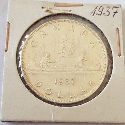 Canada 1937 George Vl Silver Dollar very nice   LOT 17