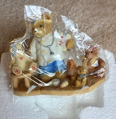 Cherished Teddies 2006 Rare Prototype Dr. w/Girl Patient & Dolls 4003882 Mint