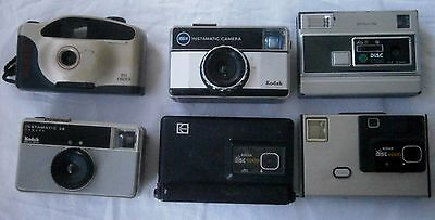 Vintage joblot of 3 disc and 3 126 Cameras – good condition