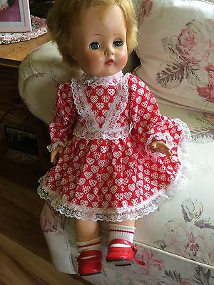 Vintage Madame Alexander Rubber Stuffed Doll 18""
