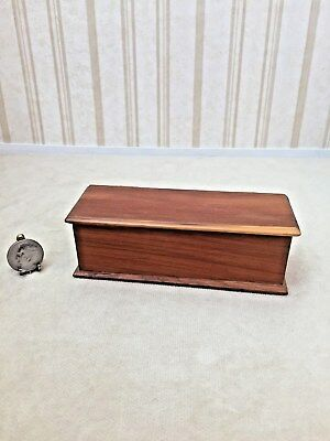 Dollhouse Miniature Artist C Graves Hand Made Cedar Trunk with Tray  1:12