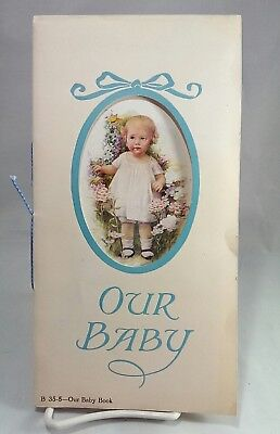 Vintage OUR BABY Baby Book Record Book 1930s 1940s Paper by Taylor Drugs