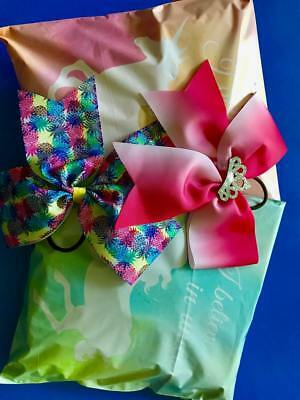 Cheer Hair Bow Surprise Bag Lot of 8 Hand-tied Large Cheer Hair Bows