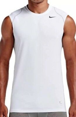 3750186c2298ca NIKE PRO COOL FITTED SLEEVELESS TOP 703102 100 MEN S NWT Sz XL Free  Shipping.