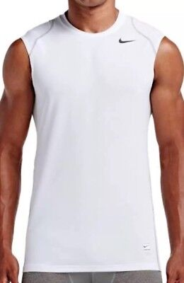 c69a46e3fd72 NIKE PRO COOL FITTED SLEEVELESS TOP 703102 100 MEN S NWT Sz XL Free  Shipping.