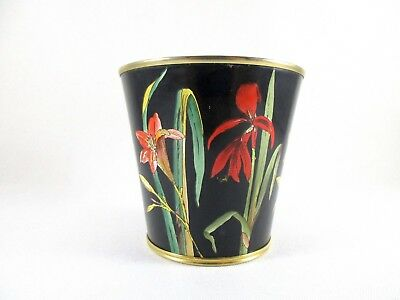 """HALCYON DAYS ENAMELS 3 1/4"""" Cup Inspired by 'Paper Mosaicks' England BMP"""