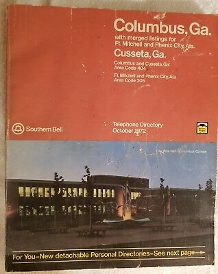 1972 (Oct) Columbus/Cusseta GA/Phenix City AL/Southern Bell Telephone Directory