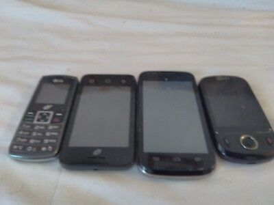 Cellphone Lot of 4 cellphones for Parts or Repairs