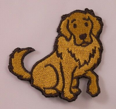 Embroidered Golden Retriever Puppy Dog Breed Patch Applique Iron On Sew On USA