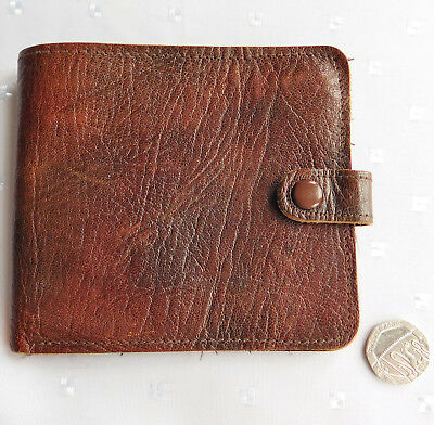 Vintage Alan fine leather wallet made in England 1960s 1970s