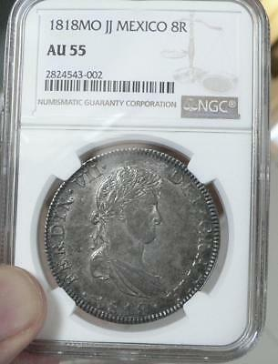 1818-Mo, JJ Mexico 8 Reales  NGC AU55 8R nice detail and luster for the grade.