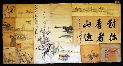18x 19C/20C Japanese Mixed Lot Paintings, Drawings, Calligraphies (HMA) #1647