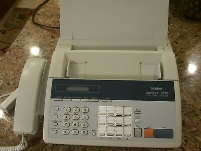 BROTHER INTELLIFAX Telephone 1270 Plain Paper  Fax Machine Copier