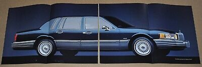 1990 LINCOLN TOWN CAR 8-page advertisement, large Town Car fold-out photo