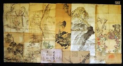 12x 19C/20C Japanese Mixed Lot Paintings, Drawings, Calligraphies (HMA) #1970