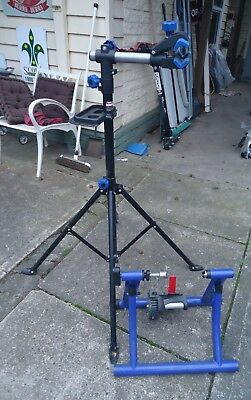Bike Mechanics Stand And Trainer And 4 Bike Carrier