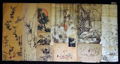11x 19C/20C Japanese Mixed Lot Paintings, Drawings, Calligraphies (HMA) #2009