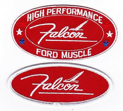 Ford Falcon Red White Sew/iron On Patch Badge Embroidered Ranchero