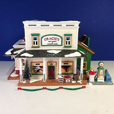 Dept 56 Snow Village GRACIE'S DRY GOODS & GENERAL STORE w/ box Combine Shipping!