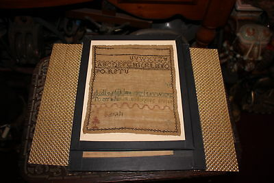 Antique Colonial Sampler-Sarah-Newark Museum NJ-Framed-to err is human to forgiv