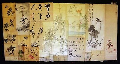 21x 19C/20C Japanese Mixed Lot Paintings, Drawings, Calligraphies (HMA) #2023