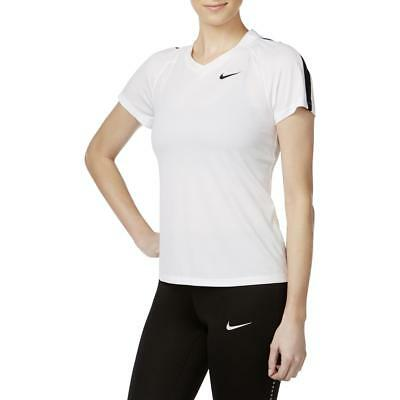 Nike Womens White Fitness Yoga Running Shirts & Tops Athletic XL BHFO 0365