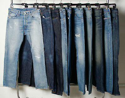 Lot of 20 Levi's Jeans Denim Mixed Leg & Rise Styles Men