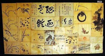 28x 19C/20C Japanese Mixed Lot Paintings, Drawings, Calligraphies (HMA) #2044