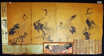 12x 19C/20C Japanese Mixed Lot Paintings, Drawings, Calligraphies (HMA) #2049