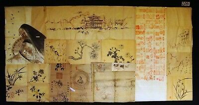 18x 19C/20C Japanese Mixed Lot Paintings, Drawings, Calligraphies (HMA) #2051