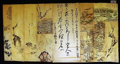 13x 19C/20C Japanese Mixed Lot Paintings, Drawings, Calligraphies (HMA) #2063