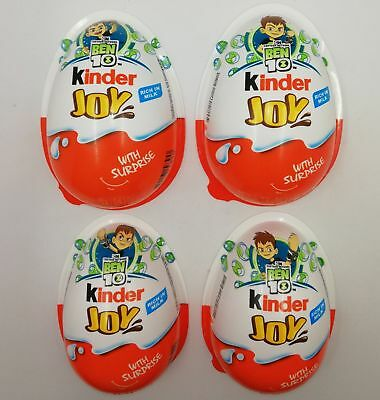 Set Completo 4 Gusci Vuoti Ben 10 Kinder Joy India 2018 Ferrero