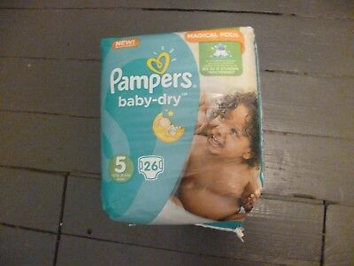 Paquet de 26 langes Pampers baby-dry taille 5 (2)
