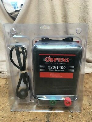 O'Briens Electric Fence Mains Energizer 220/1400 New Never Used