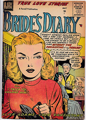 BRIDE'S DIARY #9 1956 VG-FINE condition JAY DISBROW Story!!!!