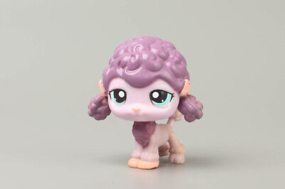 Littlest Pet Shop Purple Poodle Puppy Dog w/ Aqua Green Eyes #1627 lps Vintage
