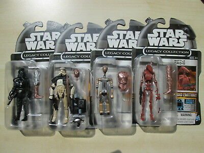 Star Wars Legacy Collection Sandtrooper/FA-4 /Battle Droid/Tie Pilot (Factory)