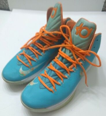 detailed look 02f69 4505d Nike Zoom Kevin Durrant KD V Easter 554988-402 Men Turquoise Blue Shoes Size  11