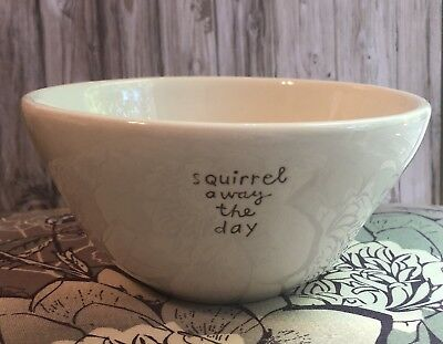 "Hallmark ""Squirrel Away The Day"" Ceramic Cereal Bowl"