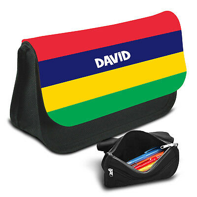Mauritius Personalised Pencil Case Game School Bag Kids Stationary
