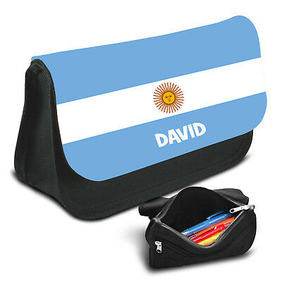 Argentina Personalised Pencil Case Game School Bag Kids Stationary