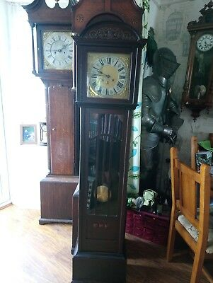 antique longcase clock case