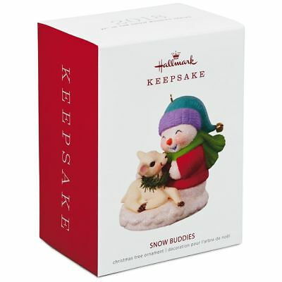 Hallmark Keepsake 2018 Snow Buddies Snowman and Lamb Ornament
