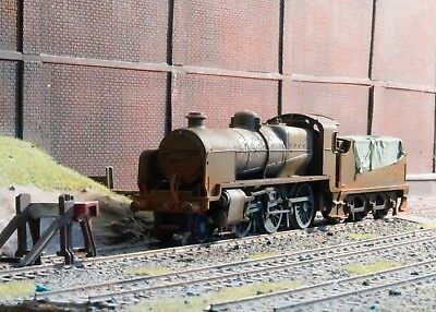 OO gauge scrapyard Southern Region N Class loco, heavily rusted and weathered