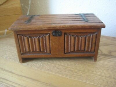 Wooden musical trinket box by Tallent of Old Bond Street, probably 1960's No Key