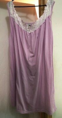 Women's lovely Lilac Lavender Summer Short Night Gown Sleepwear VGC Sz 3X Pretty