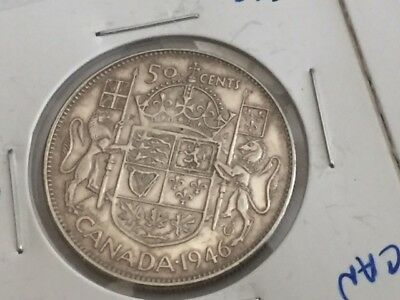 1946, 1950 and 1952 50 cents SILVER COINS