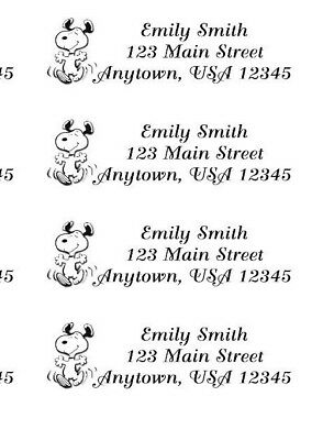 SNOOPY RETURN ADDRESS Labels~Sheet of (30) labels~Perfect Personalized Gift!!