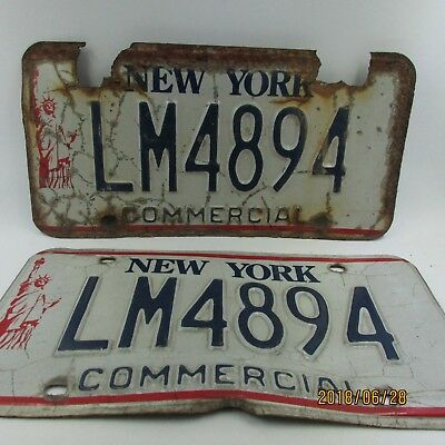 1986 - 2000 New York NY Commercial License Plate LM4894 Statue of Liberty