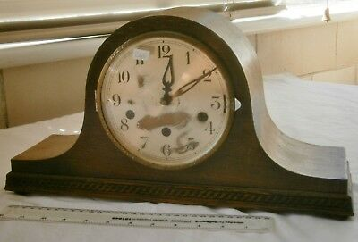 Rare Napoleon Hat  mantle clock with Westminster/St M/Whit Chimes for spares or